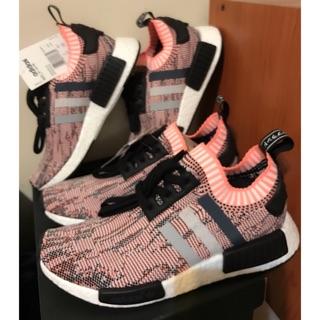 low priced cbc8b 28a67 【現貨剩24.5歐洲公司貨 】Adidas NMD R1 PK BB2361 粉紅三色條紋 女鞋 海關稅單