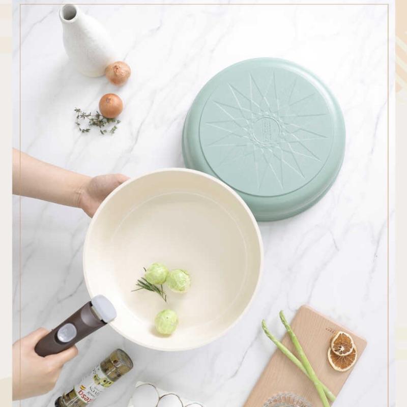 韓國代購🇰🇷 Neoflam MIDAS PLUS 淺綠平底鍋湯鍋組 可拆式鍋把