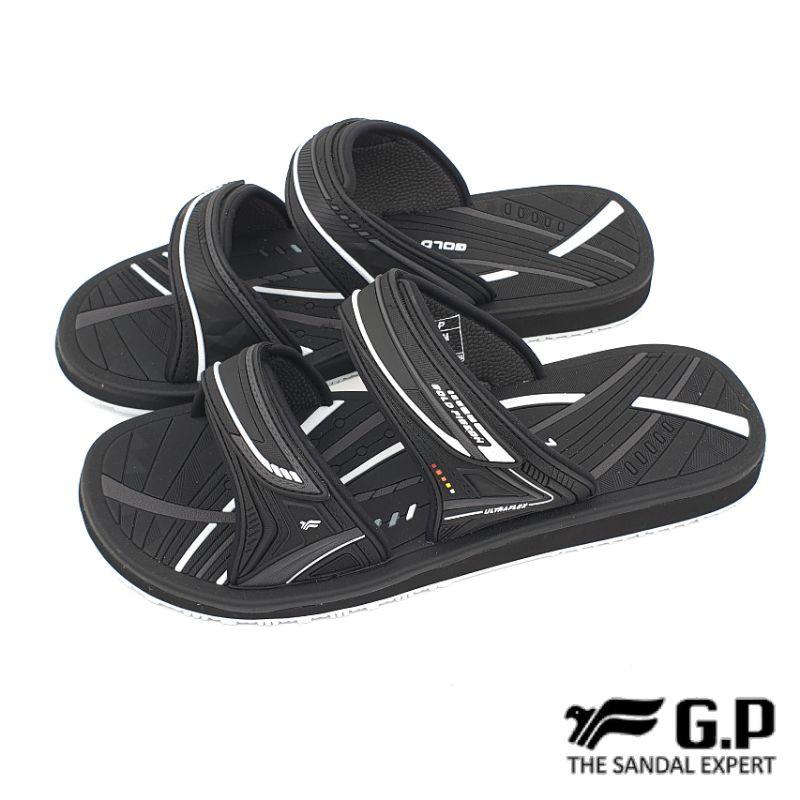 【米蘭鞋都】G.P 阿亮代言 (男) 高彈性 舒適 雙帶 拖鞋 防水 速乾 止滑 G1535M 黑 另有藍色