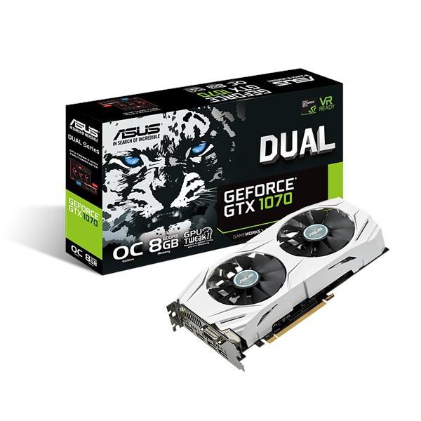 【ASUS 華碩】GeForce DUAL GTX 1070 8GB GDDR5 顯示卡