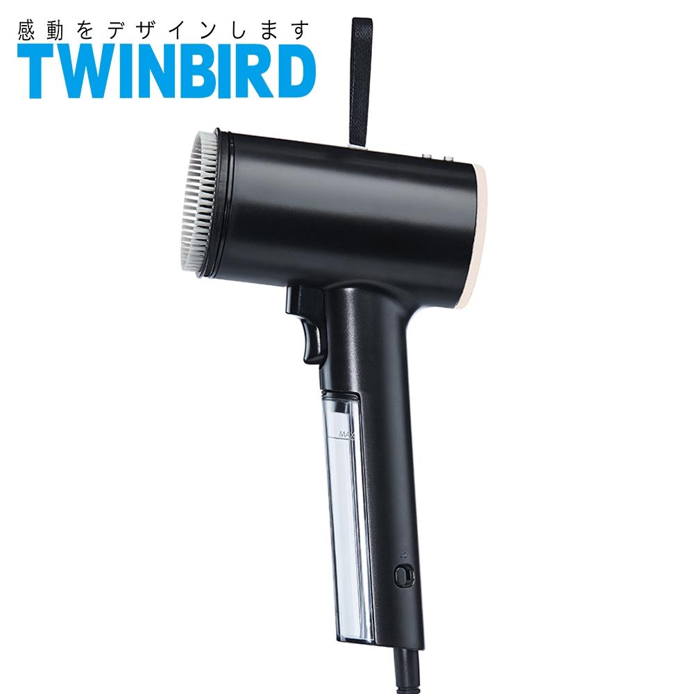日本TWINBIRD 高溫抗菌除臭 美型蒸氣掛燙機(黑) TB-G006TWB