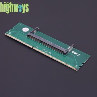 HIG StockQuality實用1.5V DDR3 204針筆記本電腦SO-DIMM至台式機DIMM內存適配器