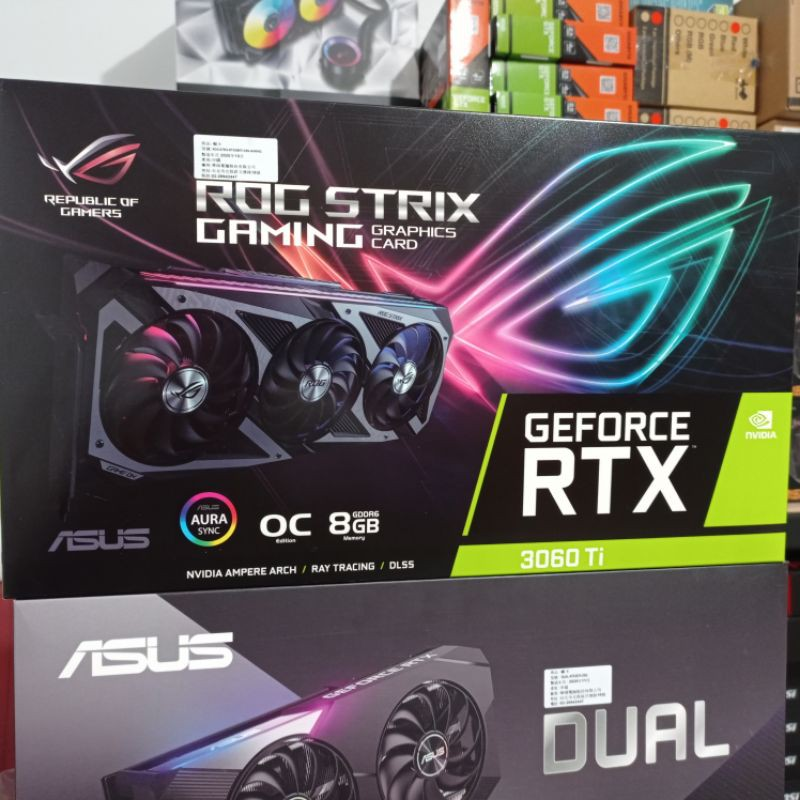 全新 華碩 ROG RTX3060TI gaming O8G 只有一片