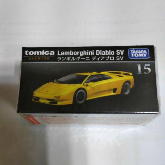 Tomica premium 黑盒 15 藍寶基尼 Diablo SV