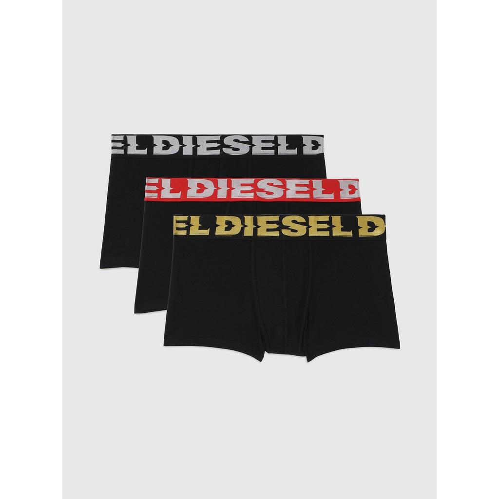 Diesel 男款 3Pack UMBX-SHAWN 三色 特殊 四角褲 內褲 三件裝 LOGO  現貨