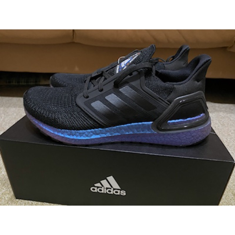 "全新現貨Adidas Ultraboost 20 ""Space Race"" 黑 藍 宇宙 EG1341"