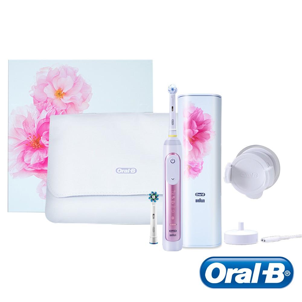 德國百靈Oral-B-GeniusX 智慧追蹤3D電動牙刷(櫻花粉) 送超細毛護齦刷頭EB60-4