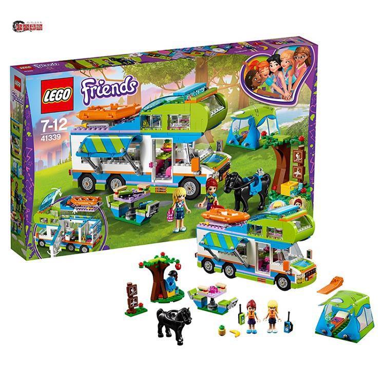 {現貨、熱銷[歌曲] 樂高朋友系列 41339 米亞露營車樂高朋友兒童和女孩積木玩具
