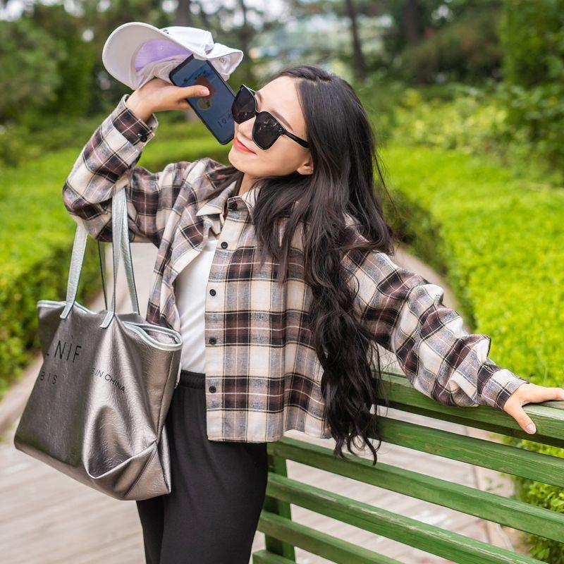 ˇ臻品下殺ˇ女裝2020新款潮襯衫學生韓版寬鬆秋裝女新款洋氣外套女潮ins百搭