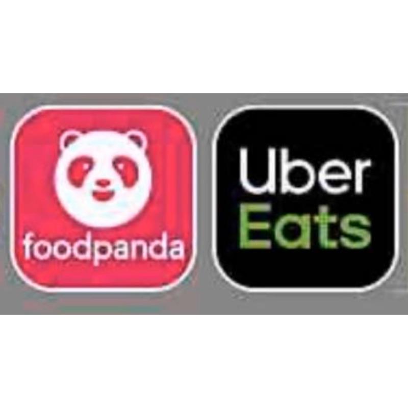BJ批發 大小張貼紙外送品牌 foodpanda熊貓 UberEats3M貼紙 汽機車安全帽