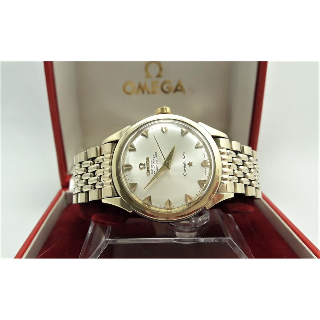 【Jessica潔西卡小舖】OMEGA星座天文台自動上鍊機械男錶,原裝龍頭,錶帶,原裝錶盒