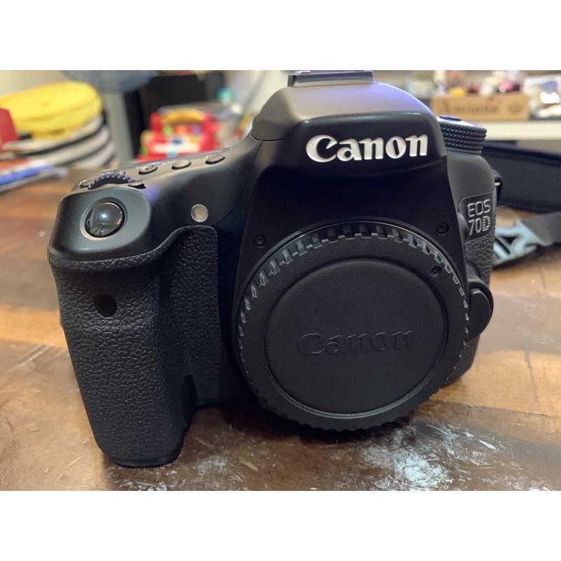 二手~Canon 70D 空機,換新機,便宜出售