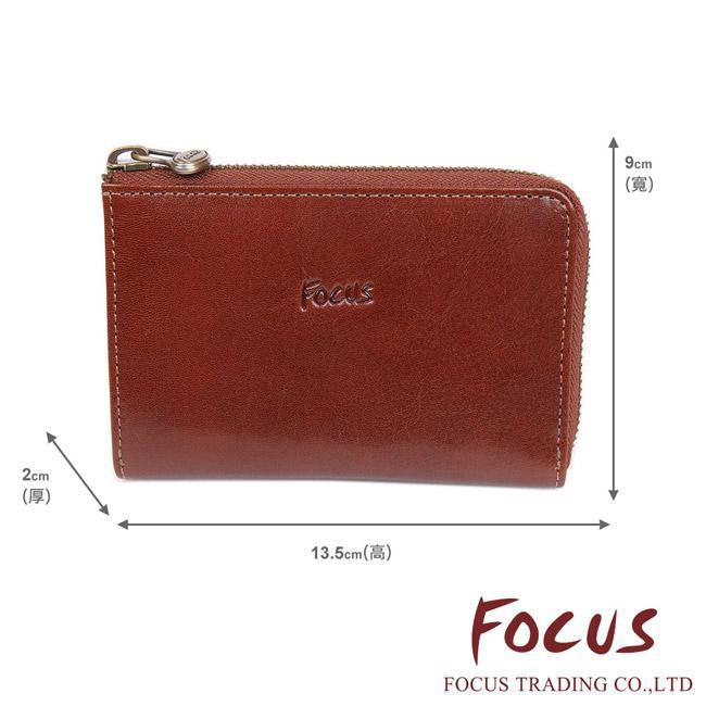 FOCUS 經典原皮 10卡L型拉鍊中夾 輕便型錢包短夾 FTC3352 廠商直送 現貨