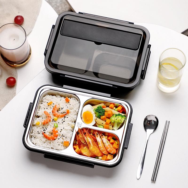 便當盒 保鮮盒 高中學生打飯盒 便當男大號便攜分格餐盤上班族餐盒 保溫不銹鋼食堂