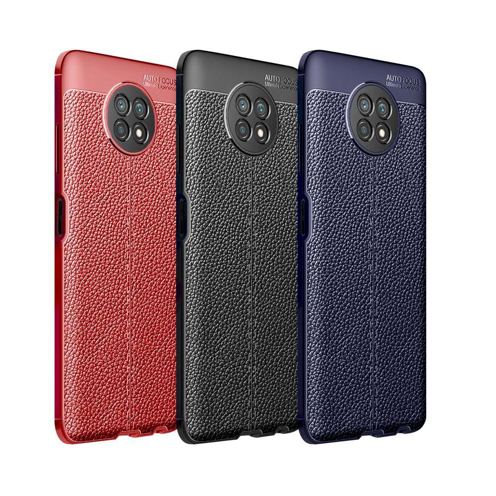 紅米 Note 9T 5G 荔枝紋保護殼皮革紋造型超薄全包手機殼背蓋
