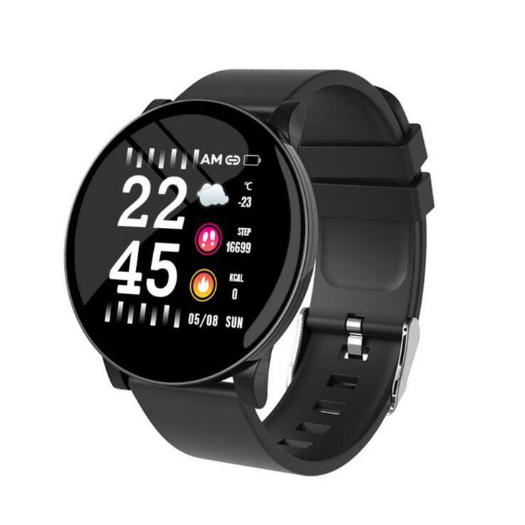 新款智慧手環W8彩屏心率血壓血氧睡眠私模多功能運動手錶14924