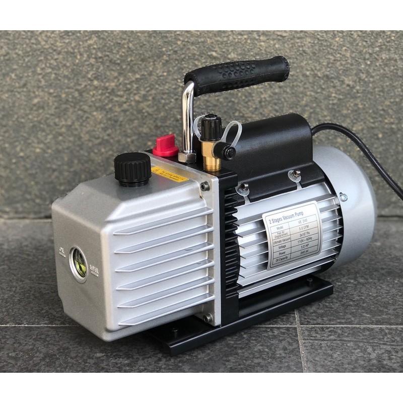 (2段式高真空)允統財精選 VE-245二段式油式真空幫浦/真空機(1/2HP)---灌冷媒抽真空、翻模、真空脫泡可