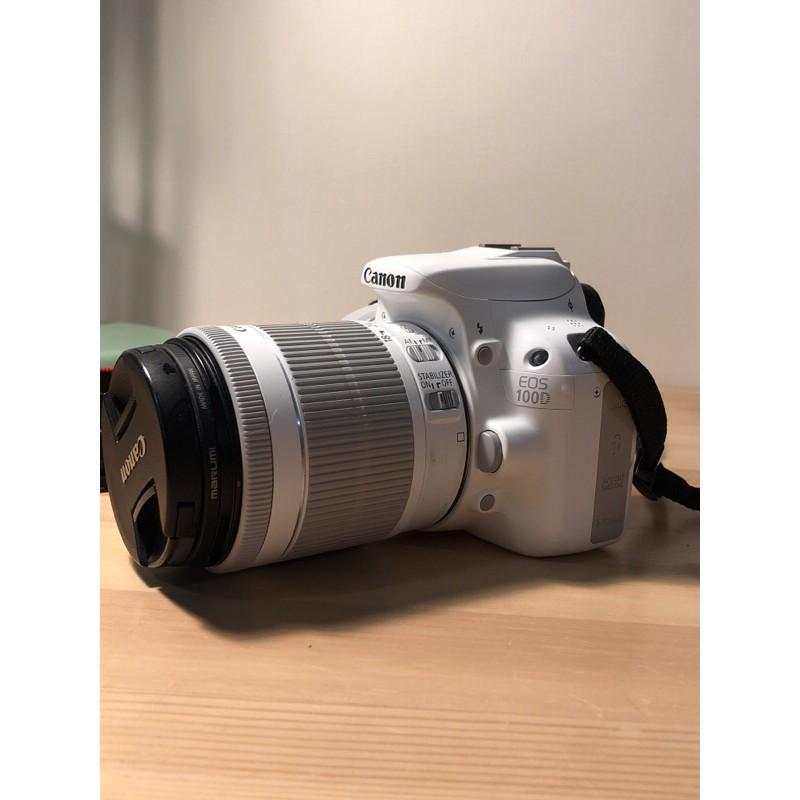 CANON EOS 100D 二手 白色 單眼相機 含鏡頭 18-55mm 全白