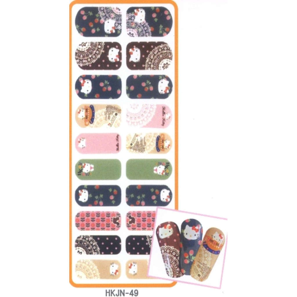 Hello Kitty 搖滾指甲彩繪貼 -49 /美甲貼