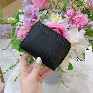 二手正品 Louis Vuitton LV M60152  黑色  EPI 水波紋 拉鍊零錢包 現貨 臺南市