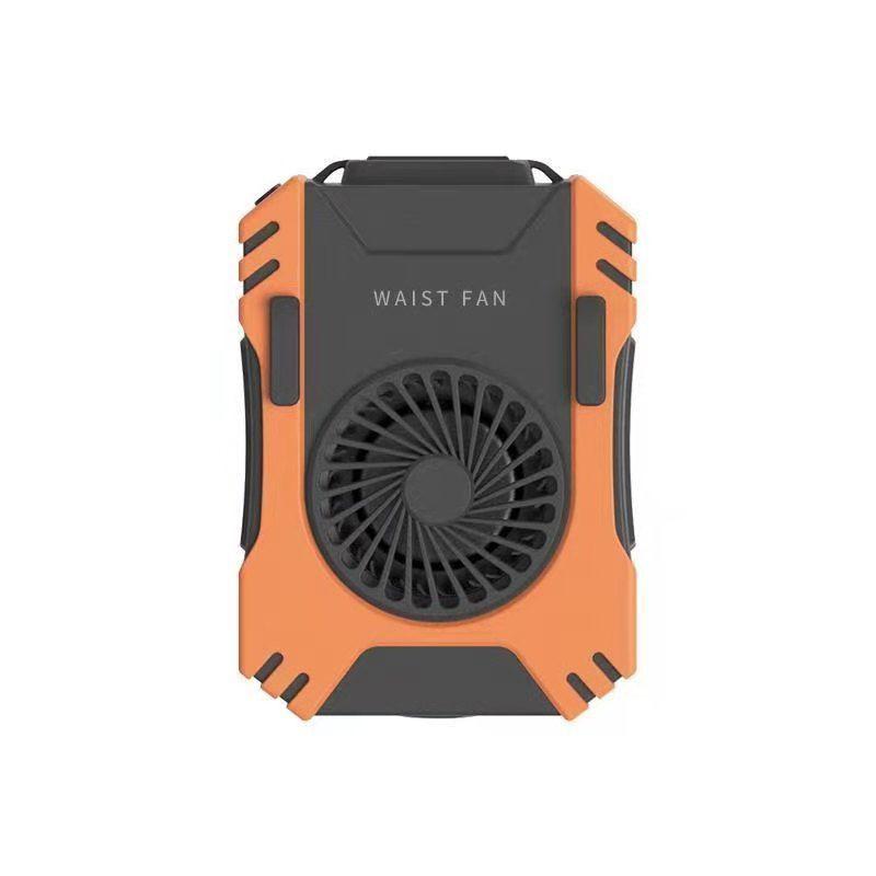 2021新款多功能 戶外掛腰掛脖小風扇USB充電5000毫安 迷你涼膚機