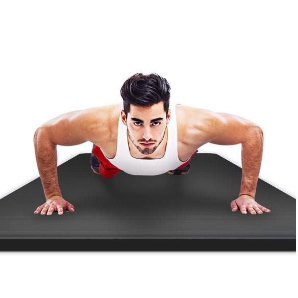 【來意印象】男士加厚15mm健身墊瑜伽墊加寬加長初學者防滑運動瑜珈墊子