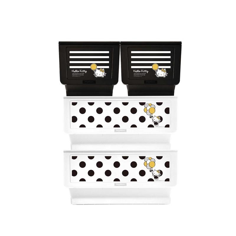 完美主義│Kitty黑點點款白底+白條紋黑底大嘴鳥整理箱(混裝) MIT台灣製 樹德 收納櫃 收納【R0198】