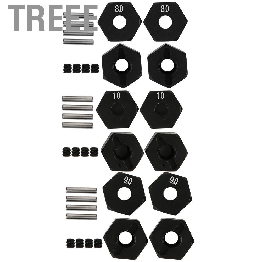 Treee RC車輪六角輪轂升級零件配件適用於SCX10 90046