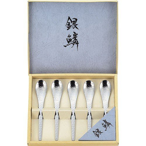 日本製-関川製作所 銀鱗  甜點湯匙 5入組