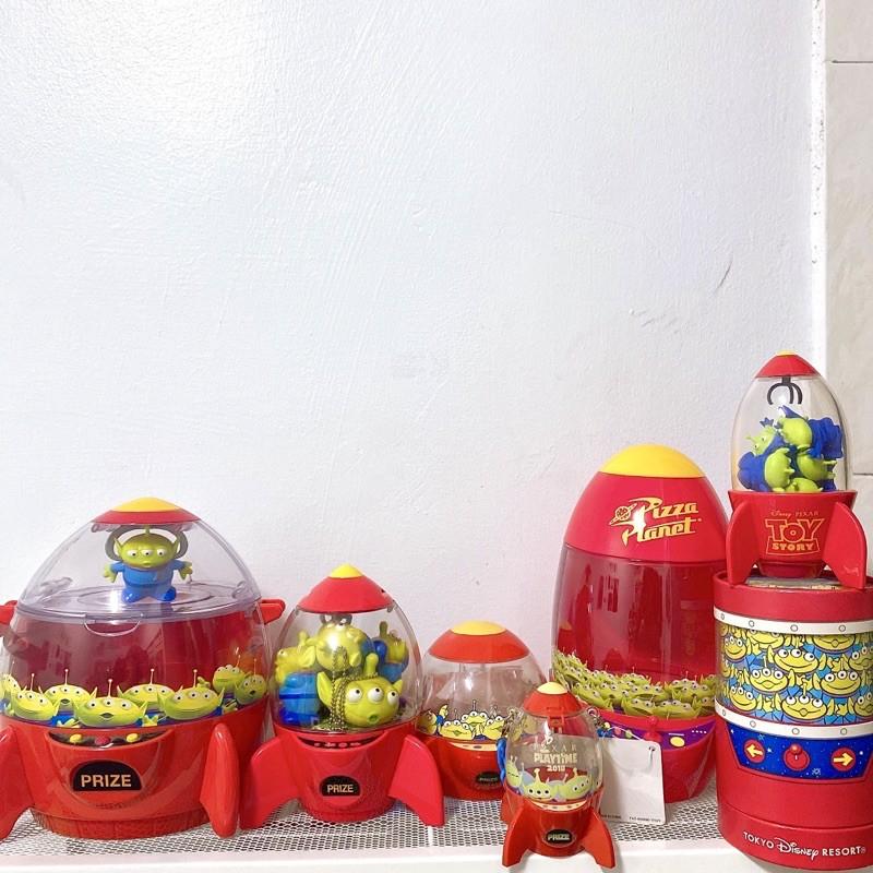 // 三眼怪 火箭🚀 玩具總動員// 三眼仔 皮克斯 火箭筒 東京迪士尼 爆米花桶 糖果罐 麻糬盒 絕版 披薩星球