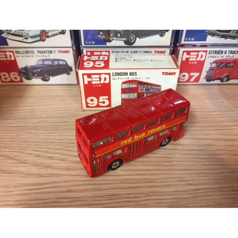 Tomica 日本製 no.95 LONDON BUS 倫敦巴士 雙層巴士 紅標 絕版 全新