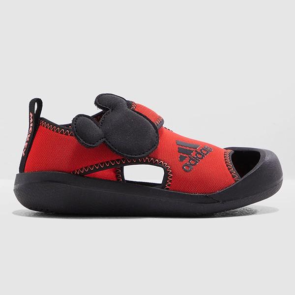 ADIDAS 涼鞋 【F35863】Mickey 運動涼鞋 護趾涼鞋 童鞋 中童鞋 黏帶 迪士尼 米奇 紅黑