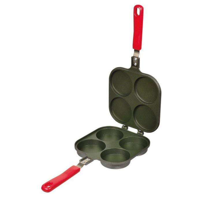 一鑫餐具【日本 パール金属 紅豆餅烤盤圓形4格 D-420】紅豆餅模燒烤器大判燒器雞蛋糕鯛魚燒