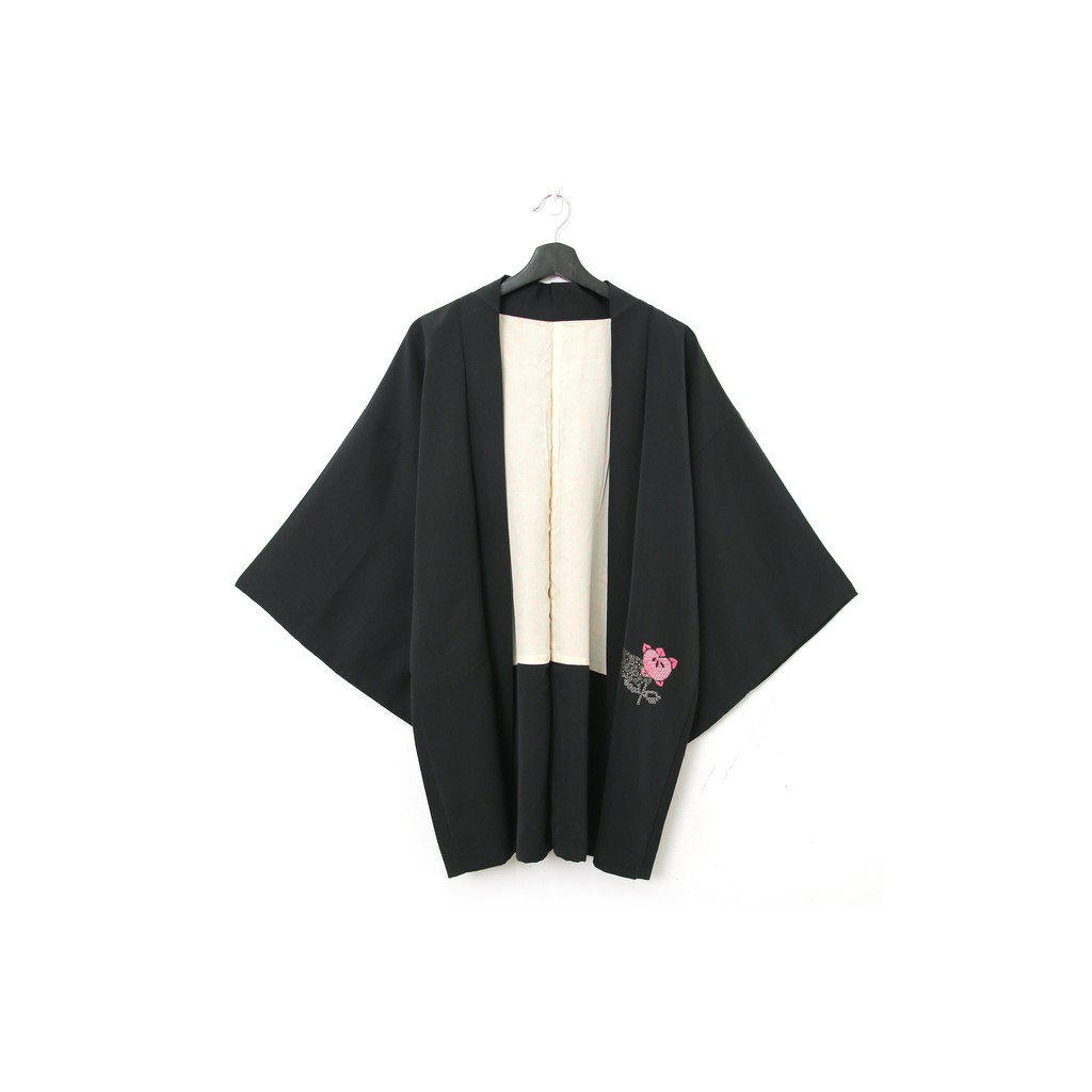 Back to Green-日本帶回羽織 粉色 vintage kimono