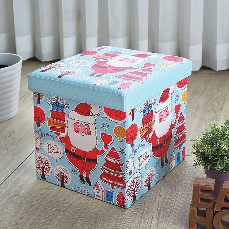 【YA356-13】巧思摺疊收納椅凳(歡樂聖誕)
