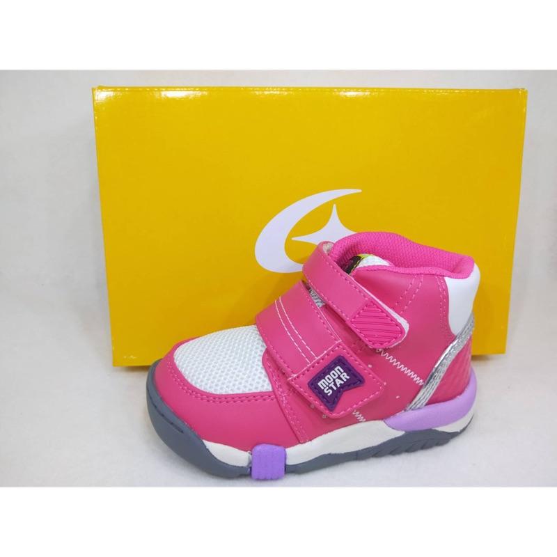 JB~ Moonstar 月星 Carrot Hi系列 童運動鞋 十大機能 日本機能鞋 高筒矯正鞋I9681#粉紅