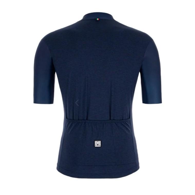 SANTINI【色彩】短袖車衣- 海軍藍
