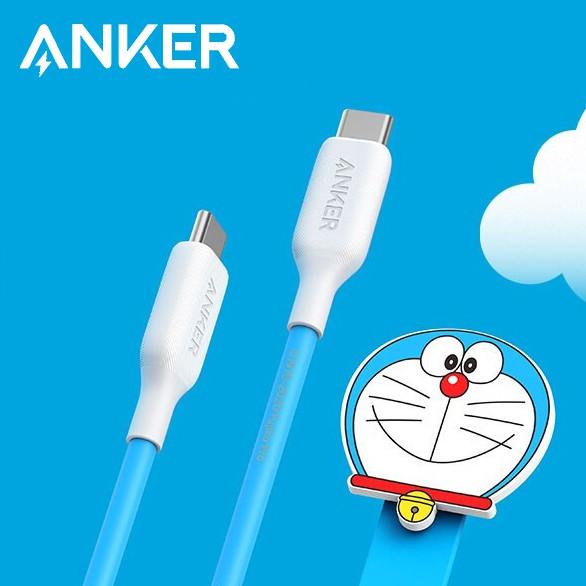 Anker 安克 哆啦A夢Type-C資料線 100W5A快充 官方聯名 平板筆電手機充電線USB-C 1.8m