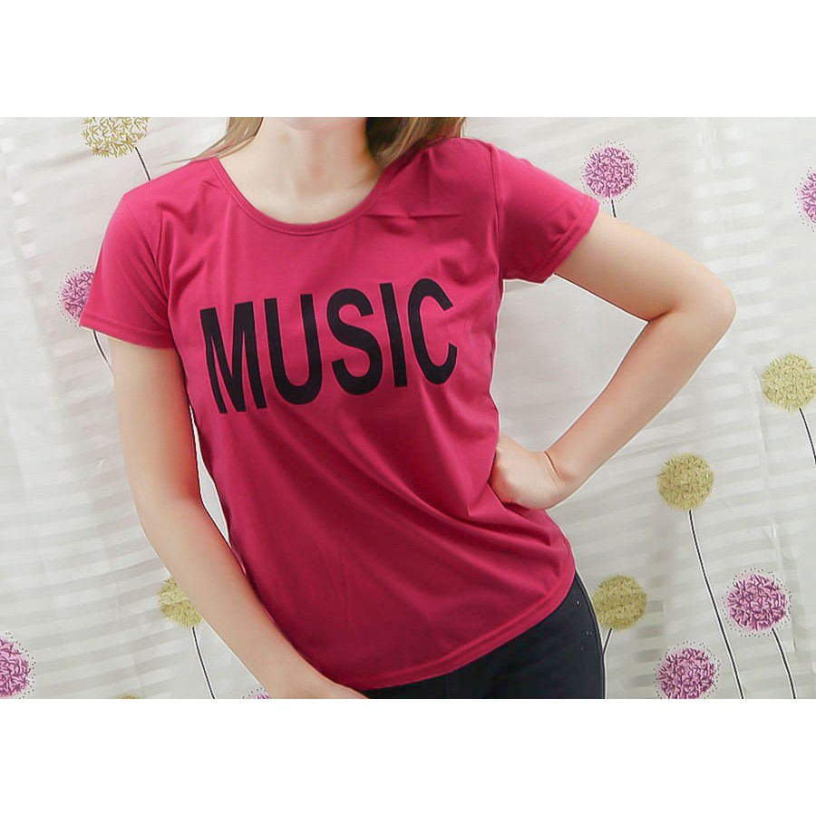 【晶采】圓領短袖MUSIC T恤