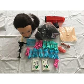 二手美髮用具 包含燙髮用具 彩妝用臉皮 假人頭18吋  底座  龍捲風捲髮器  髮包 臺北市
