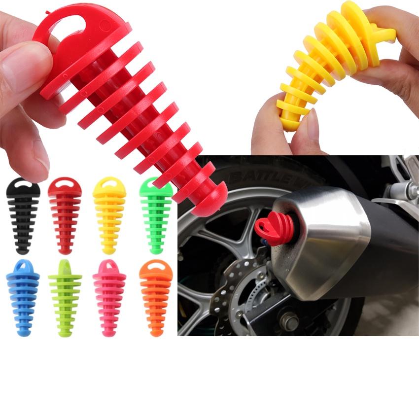 Realzion 摩托車橡膠塞停車防塵防雨防銹排氣管端通用, 適用於 WR155R CRF150 Klx150L R15