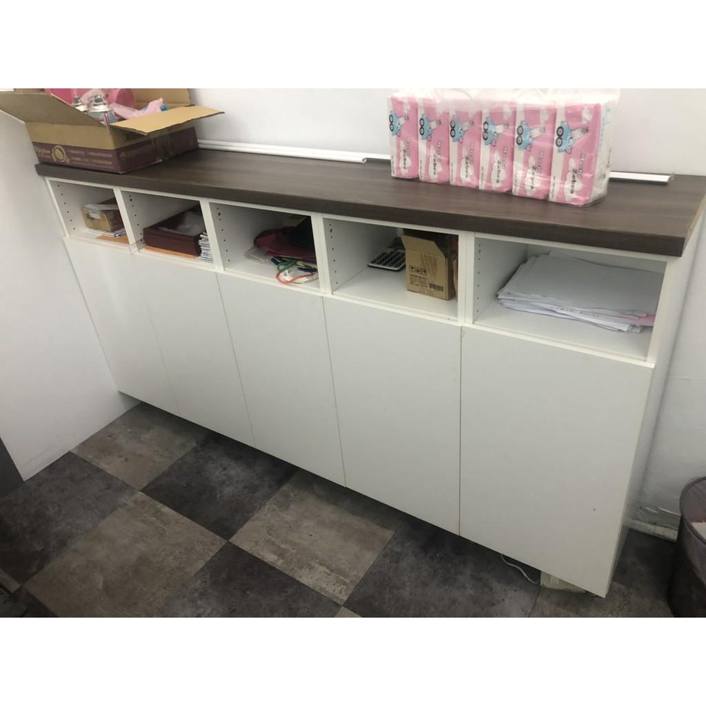 長型木製質感文件收納櫃