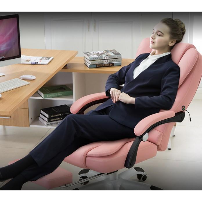 電腦椅 家用辦公椅 可躺 老板椅 升降轉椅按摩擱腳 午休座椅子 皮面升降椅子 現貨