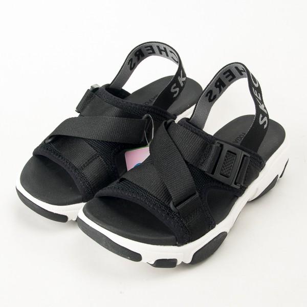 SKECHERS 女休閒系列 增高 休閒 涼拖鞋 DADDY O-163051BLK 現貨