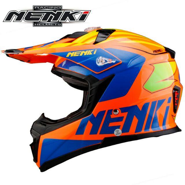 全罩式安全帽越野盔NENKI316 玻璃钢超轻头盔送风镜