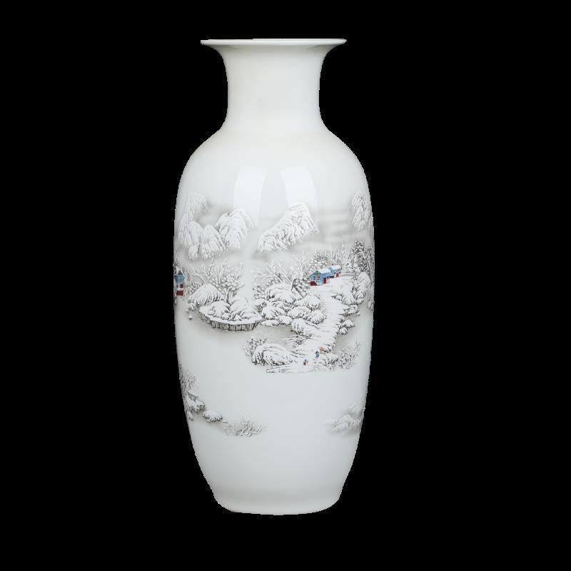 *嚴選**爆款*景德鎮陶瓷器青花瓷仿古中式家居客廳簡約大干花瓶插花裝飾品擺件