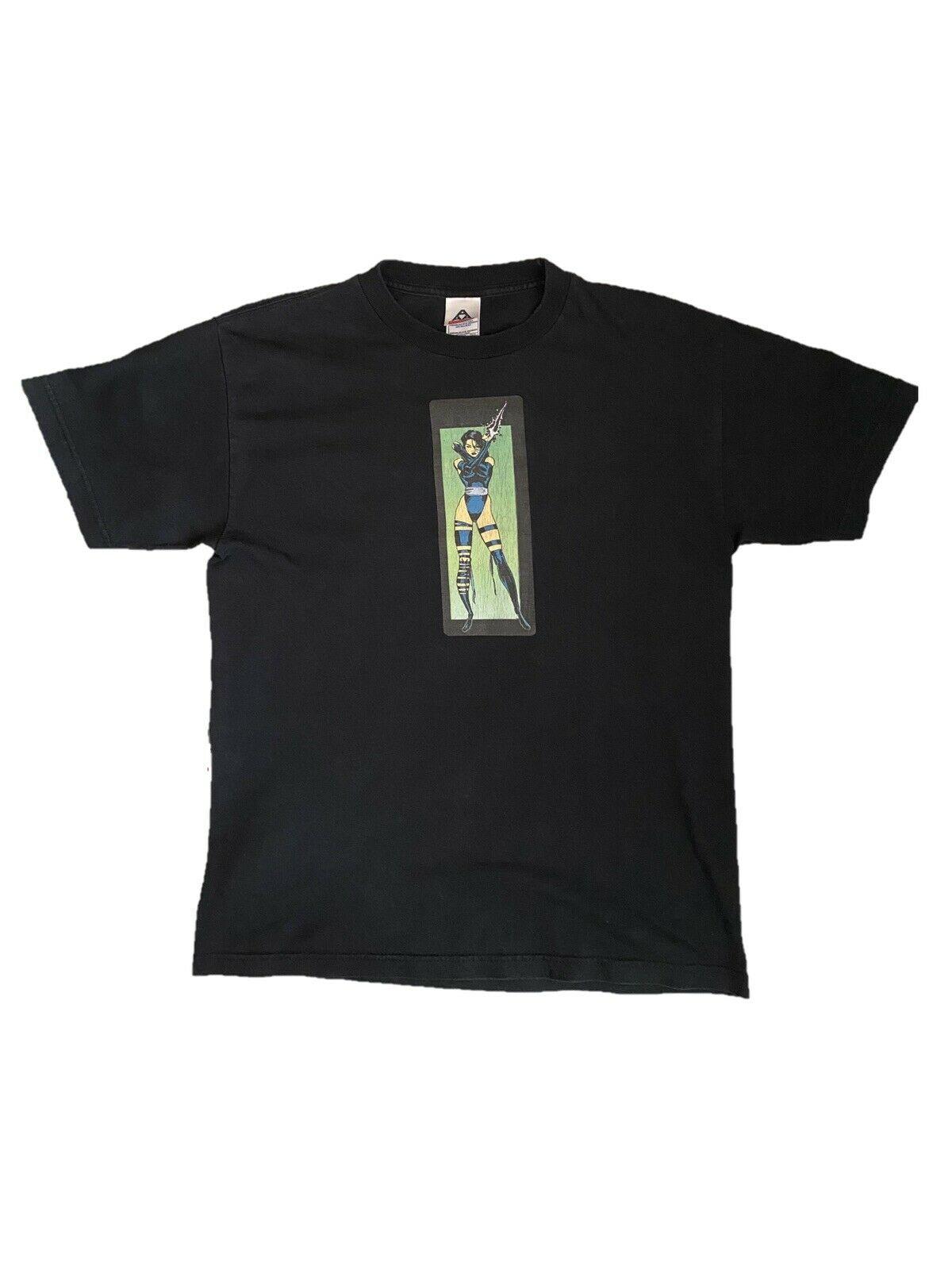 復古奇跡 Psylocke 襯衫挂鉤蜘蛛俠毒液 Xmen 漫畫圖片