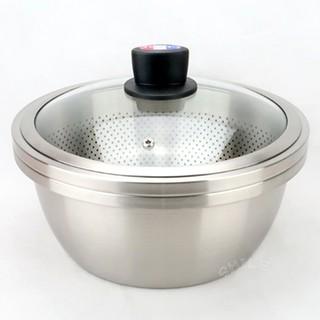 CLARE晶鑽316不銹鋼湯漏鍋火鍋28cm打蛋盆洗米盆蔬果瀝水盆 臺中市