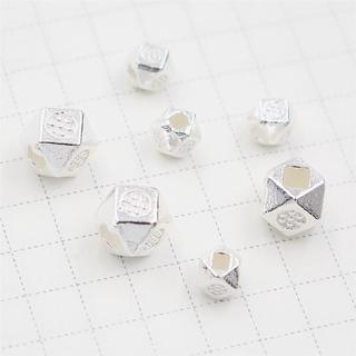 s925純銀diy手工配件 串珠手鍊隔珠 散珠編織項鍊材料