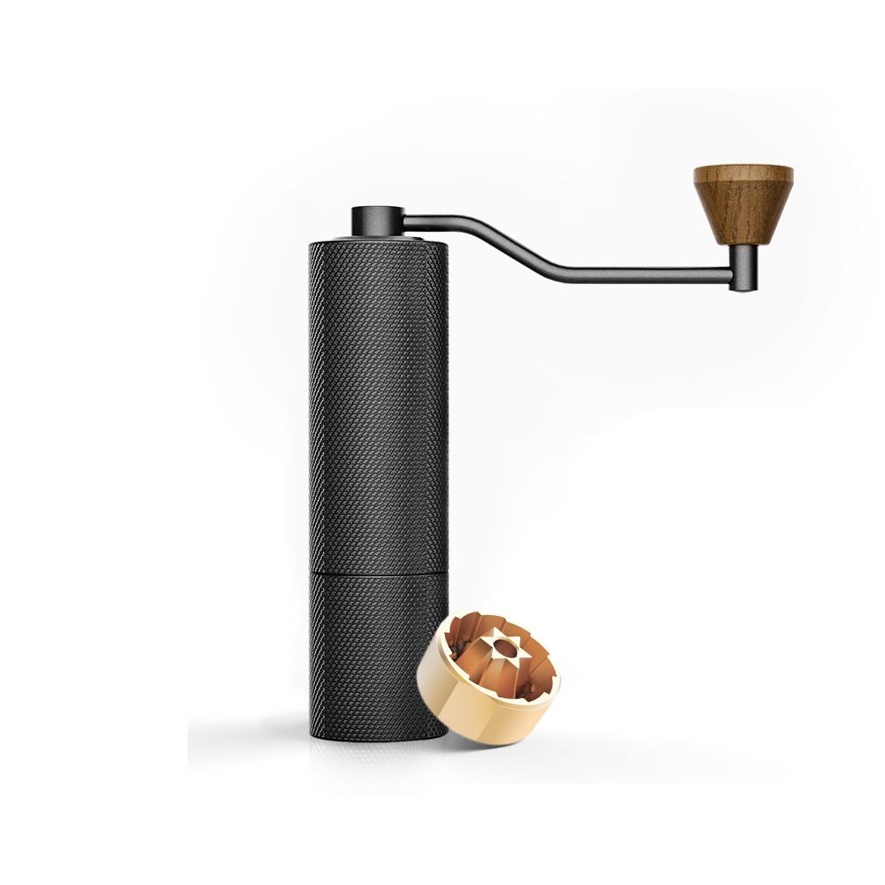 TIMEMORE 栗子SlimS 鑽石紋手搖磨豆機(義式鍍鈦磨芯)-黑色 咖啡用品 磨豆機 泰摩 手沖咖啡 咖啡豆